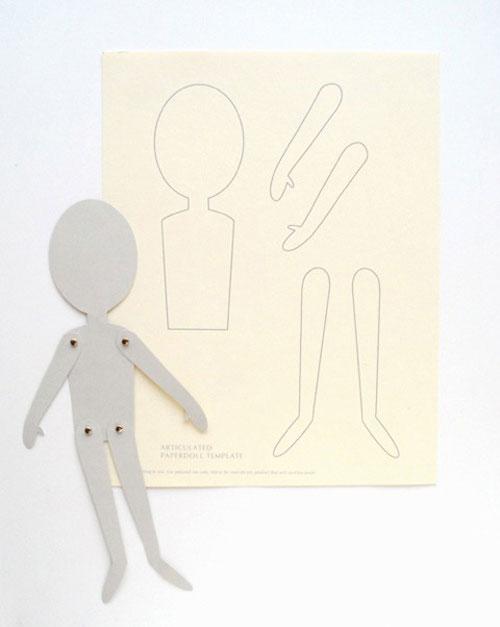 Haciendo muñecos de papel articulados | Manualidades y Artesanía