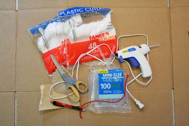 cucharas de plástico