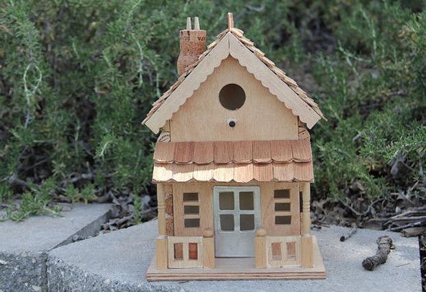 Elegantes casas de corchos para p jaros californianos manualidades y artesan a - Maison a oiseaux a faire soi meme ...