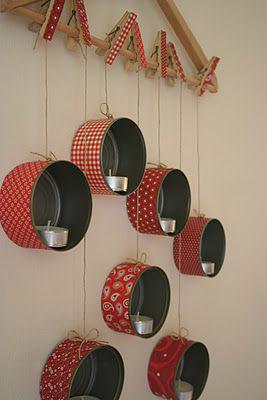 Decorativos Portavelas Hechos Con Latas Recicladas Manualidades Y