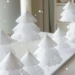 Aprende a hacer lindos arbolitos nevados para tu centro de mesa navideño