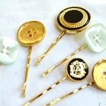 ¿Tienes muchos botones vintage? ¡Conviértelos en prendedores!