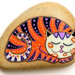 Originales Piedras de las playas del Adriático pintadas a mano