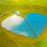 Planta solar con forma de corazón: Medio Ambiente y estética en un llamativo proyecto