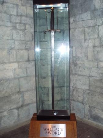 Réplica de la espada original de William Wallace, que medía un metro y medio de largo.