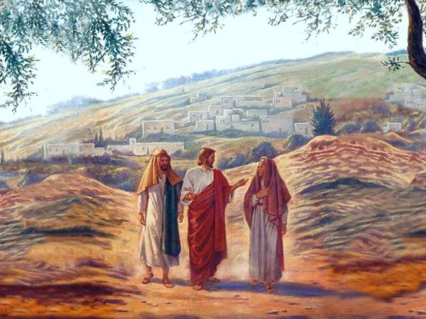 resurrección Jesus-walking-to-Emmaus