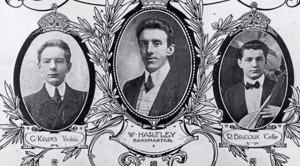 Algunos de los malogrados músicos de Titanic.