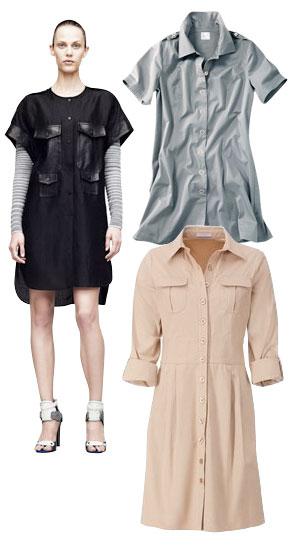 Tipos de camisas en formato vestido. Foto: www.style.com.