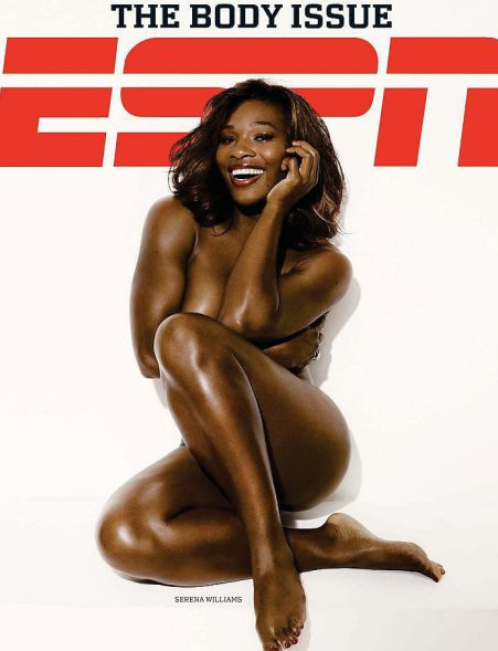 Así posó Serena-Williams para la Revista de ESPN en julio de 2009.
