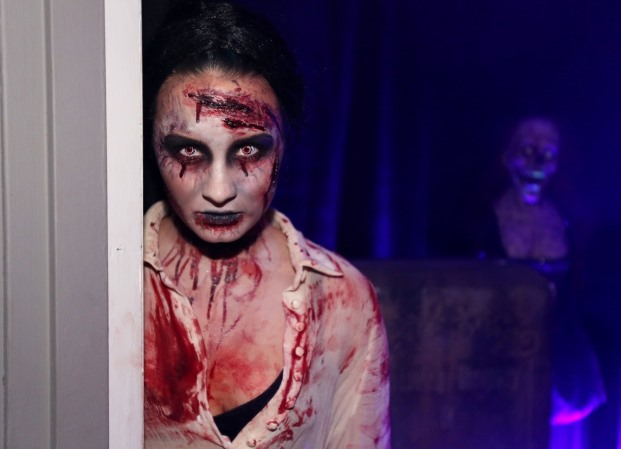 Demi Lovato sorprendió con este aspecto zombie durante una fiesta en el PhilyMack Management Building, en West Hollywood, California, en 2013.
