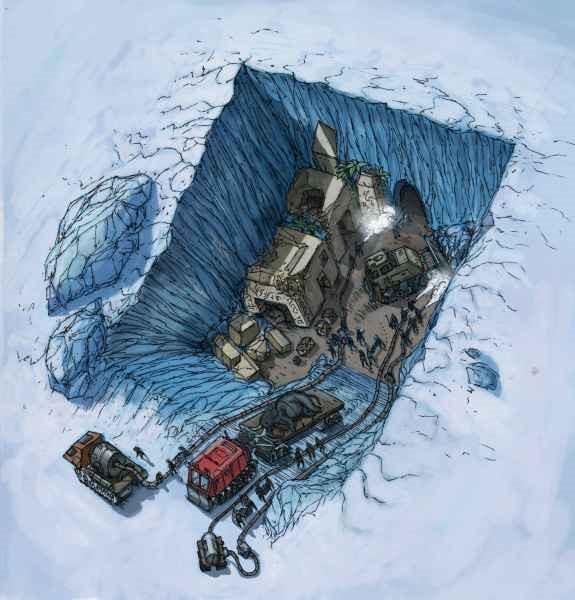 Doto: Representación artística del supuesto hallazgo en la Antártida. /es.spherebeingalliance.com