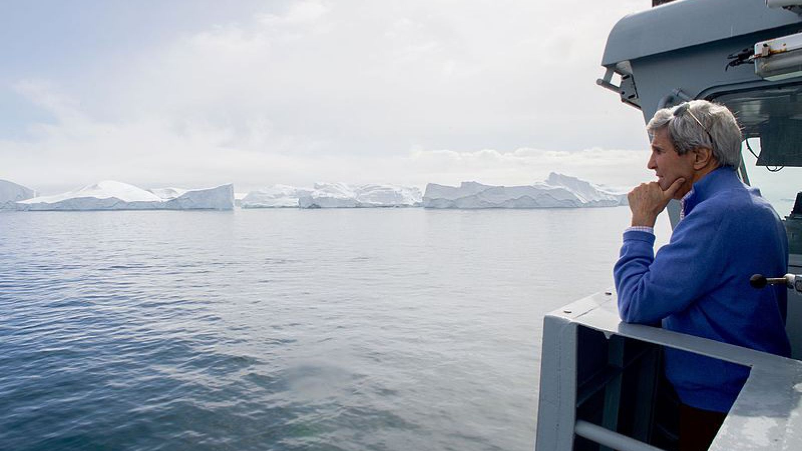 Foto: John Kerry en la Antártida. /fusion.net