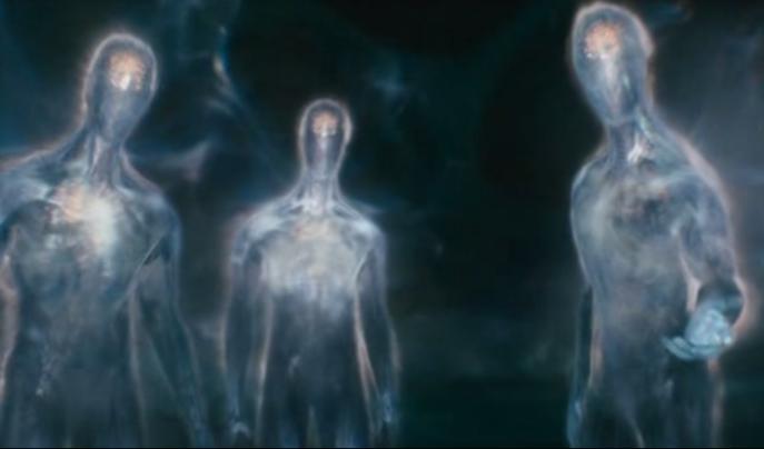 """Foto: Representación artística de aliens en película """"Knowing"""". /thoth3126.com.br"""