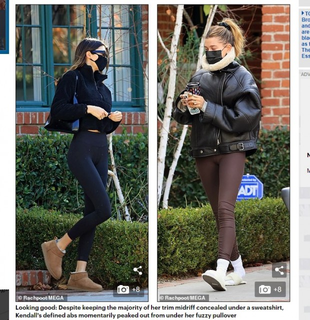 Kendall Jenner, captada yendo al gimnasio junto a su amiga Hailey Baldwin / Captura www.dailymail.co.uk