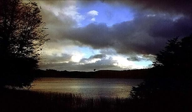 Amanecer en el Lago Pollux, cerca de Coyhaique