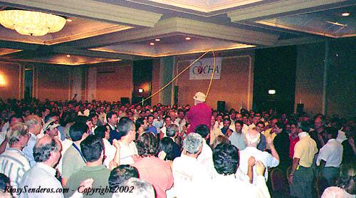 Mel Krieger dando una demostración en Chile