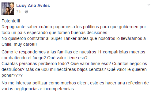 Fuente: Facebook Lucy Ana Avilés.