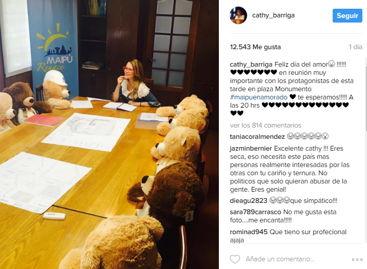 Fuente: Instagram Cathy Barriga.