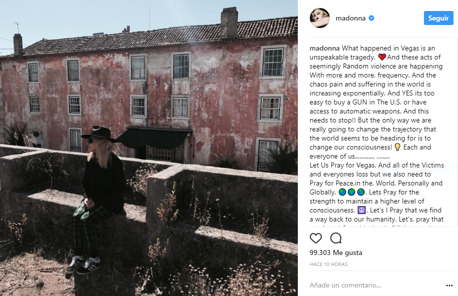 Foto: Captura Instagram Madonna.