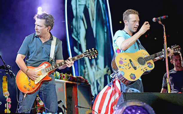 Michael Fox tocó con Coldplay