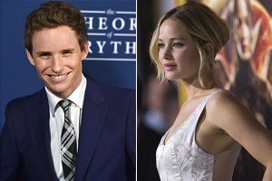 Eddie Redmayne - Jennifer Lawrence