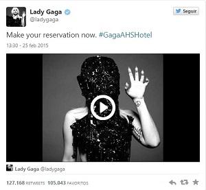 lady gaga american horror story hotel tweet