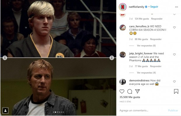 "William Zabka, como John ""Johnny"" Lawrence / www.instagram.com/netflixfamily"