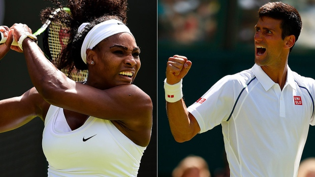 Novak Djokovic y Serena Williams