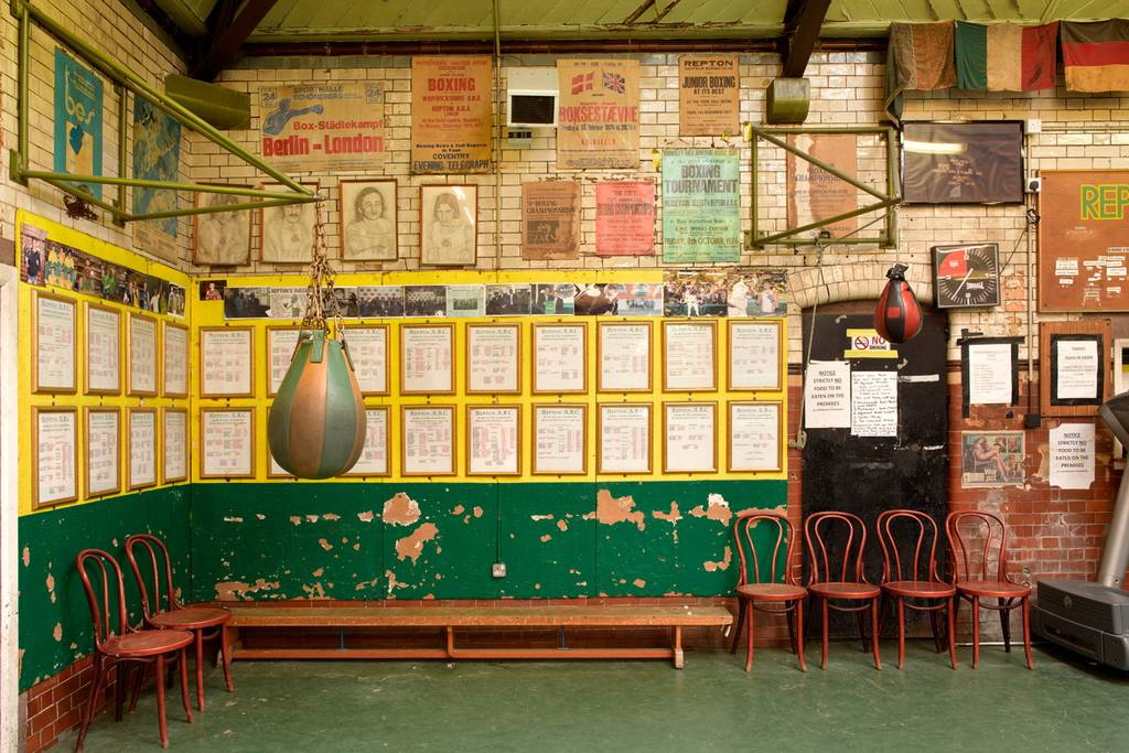 Accolades- The wall of honour at Repton Boxing Gym