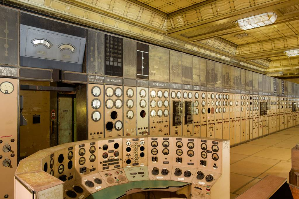 Retro- The control room at Battersea Power Station-Picture Peter Dazeley