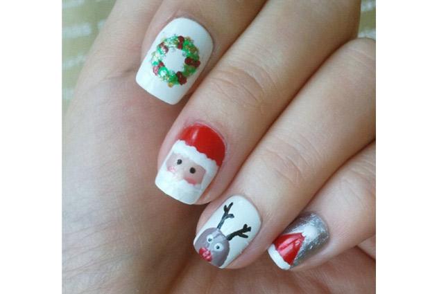 uñas navideñas para niñas
